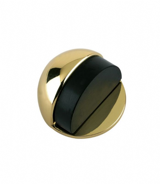 ZAB06-PB DOOR STOP - FLOOR MOUNTED - OVAL 50MM DIA.